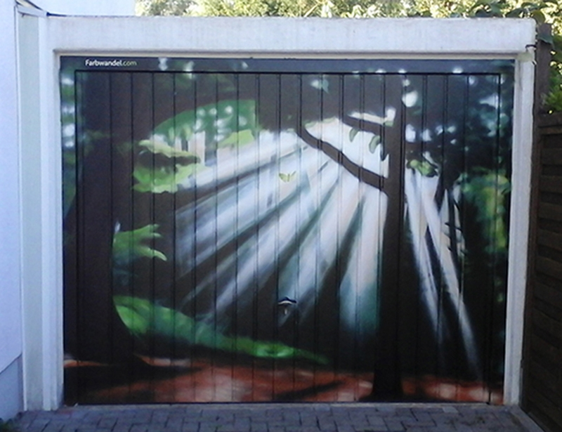 Garagen Hebebuhne Malerei : Garagengestaltung farbwandel fassadengestaltung