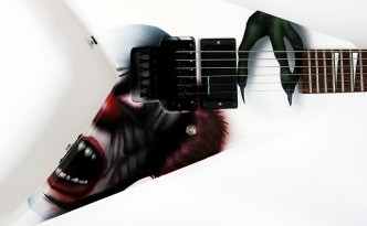 Airbrush auf Gitarre