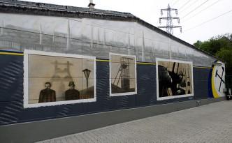 Farbwandel Fassadenkunst Bergbau im Ruhrgebiet