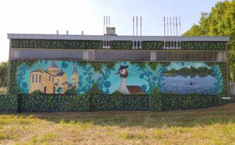 Neuenkirchen ThyssenGas Naturalismus Farbwandel Fassadenkunst Malerei